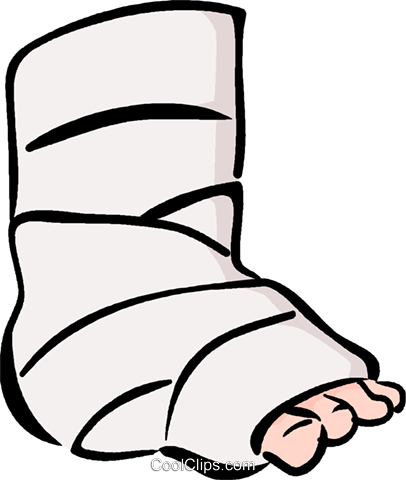 broken ankle Royalty Free Vec