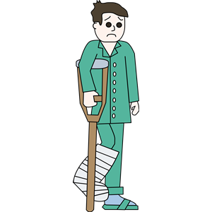 Broken Leg - Orthopedic Cast - Broken Leg PNG