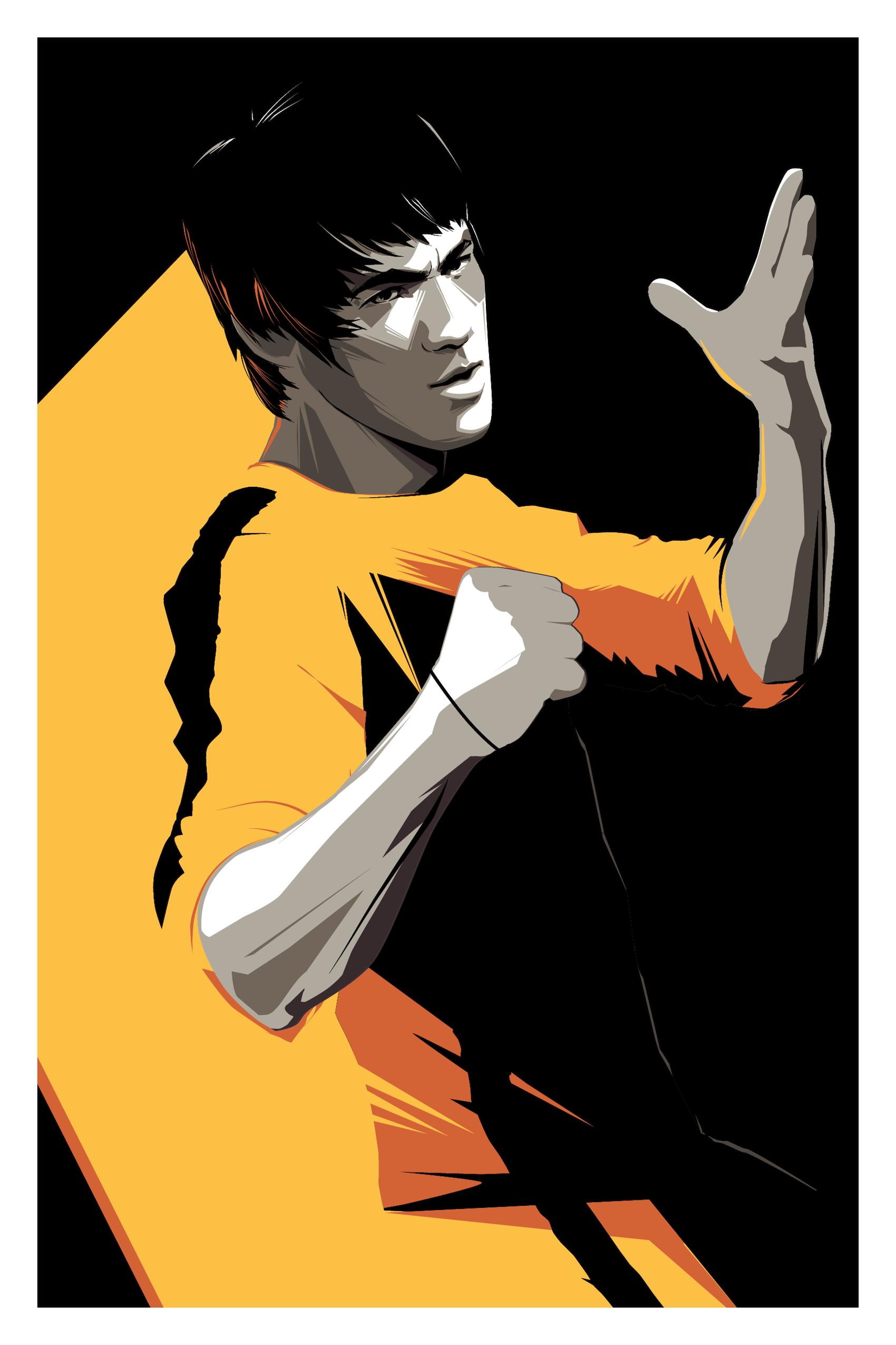 Craig-Drake-Bruce-Lee.png (1700×2550) - Bruce Lee PNG