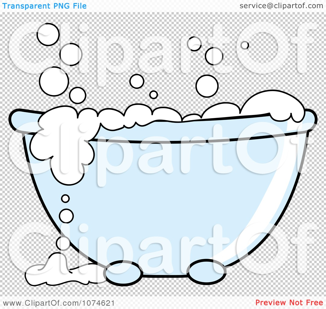 1080x1024 Clipart Tub With Sudsy White Bubble Bath - Bubble Bath PNG Free