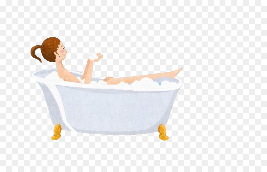 Bathtub Bubble bath Bathing - Bubble bath amount - Bubble Bath PNG Free