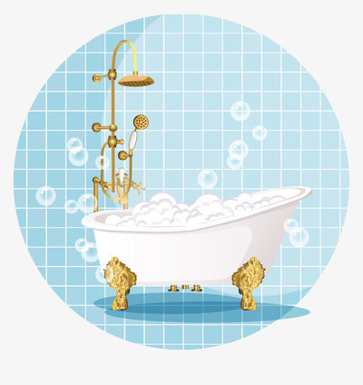 Cartoon version of the bubble bath tub, Bathtub, Bubble Bath, Cartoon PNG  Image - Bubble Bath PNG Free