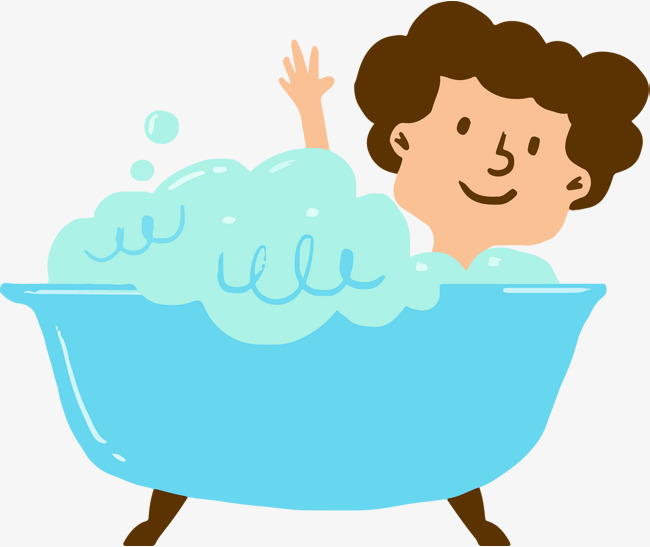 Cute cartoon bubble bath vector, Cartoon, Hand Painted, Bath Bubble PNG and  Vector - Bubble Bath PNG Free
