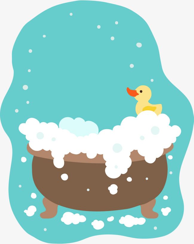 Cute children painting bubble bath vector, Cartoon, Take A Bath, Foam PNG  and - Bubble Bath PNG Free