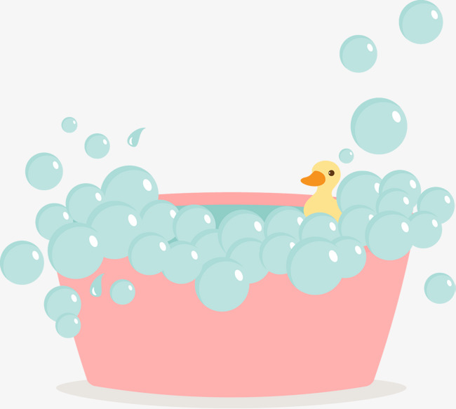 Pink Cute Bubble Bath Vector, Pink, Bath Bubble, Baby PNG And Vector - Bubble Bath PNG Free