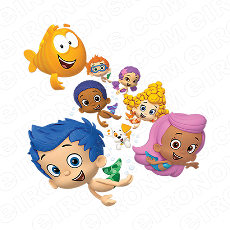 BUBBLE GUPPIES DIGITAL GROUP POSE CLIPART PNG IMAGE SCRAPBOOK INSTANT  DOWNLOAD | YOUR ONE STOP CLIPART SUPER SHOP | EIRONONS.COM - Bubble Guppies PNG HD