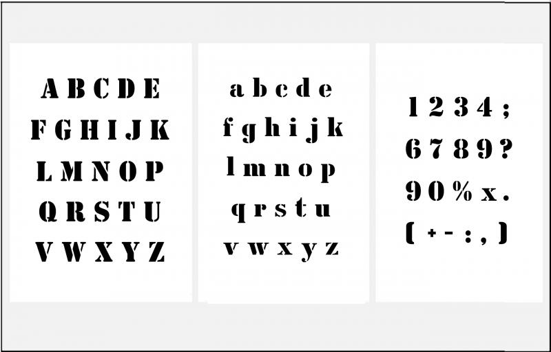 1,5cm hoch extra kleine Buchstaben groß, klein und Zahlen - Buchstaben Und Zahlen PNG