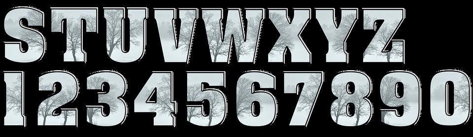 buchstaben zahlen alphabet winter scrapbooking - Buchstaben Und Zahlen PNG