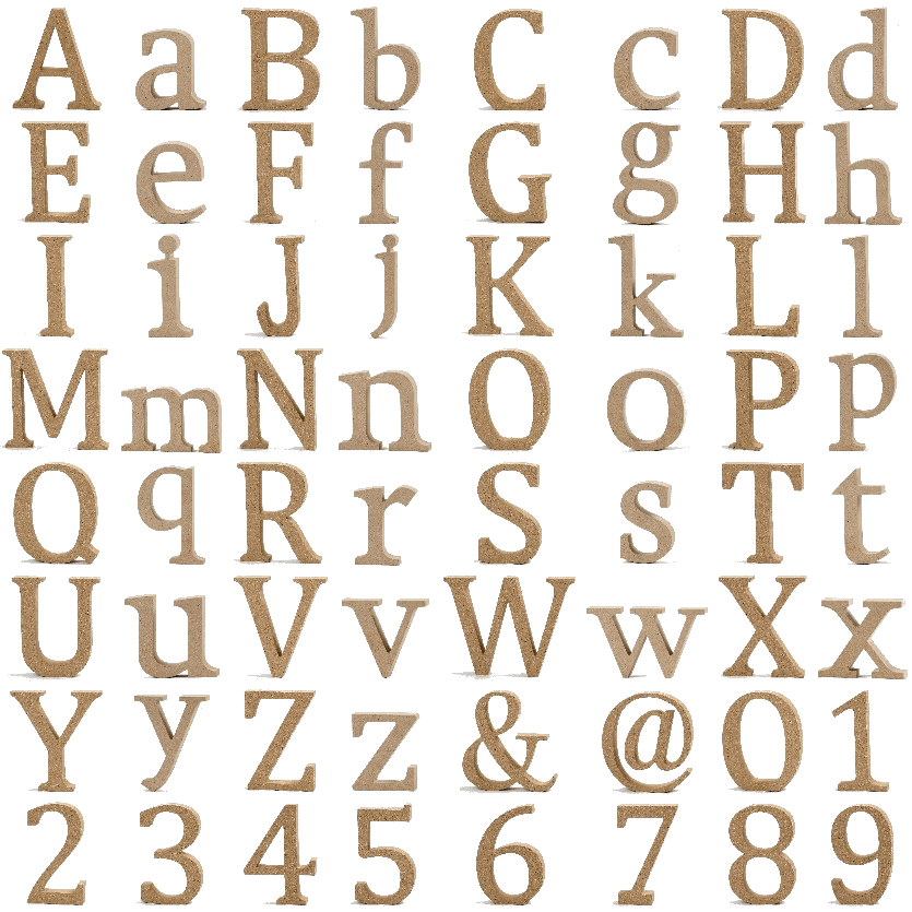 Holzbuchstaben Holzzahlen Buchstaben Zahlen MDF H: 13cm - Buchstaben Und Zahlen PNG