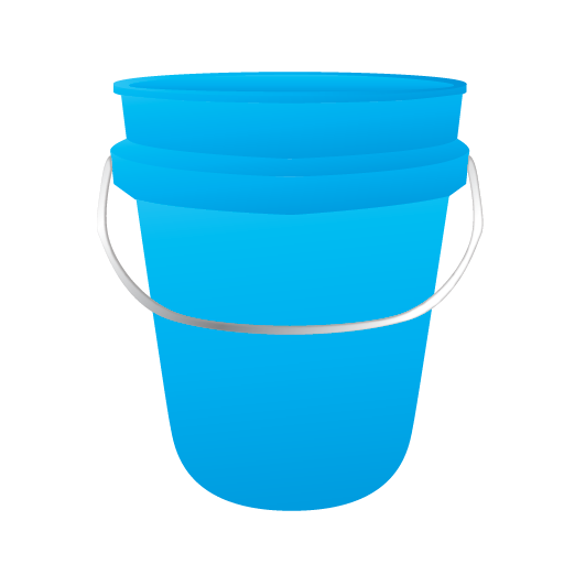 bucket, cleaning, janitor, water bucket icon. Download PNG - Bucket PNG