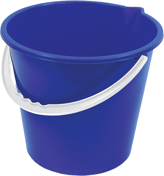 Plastic blue bucket PNG image free download - Bucket PNG