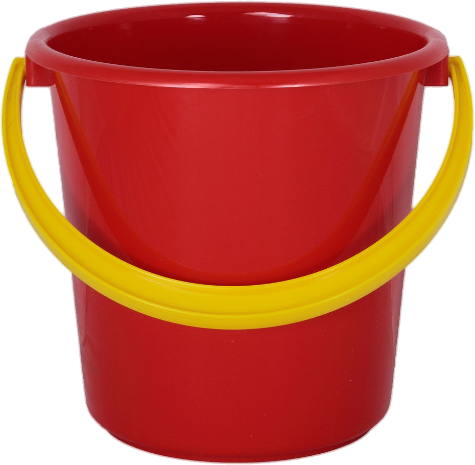 Plastic red bucket PNG image - Bucket PNG