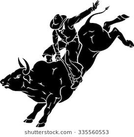 Rodeo Bull Ride - Bucking Bull PNG