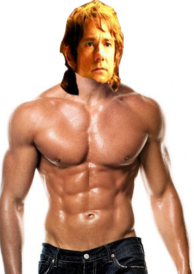 Buff Bilbo Baggins by moshigal156 PlusPng.com  - Buff Man PNG
