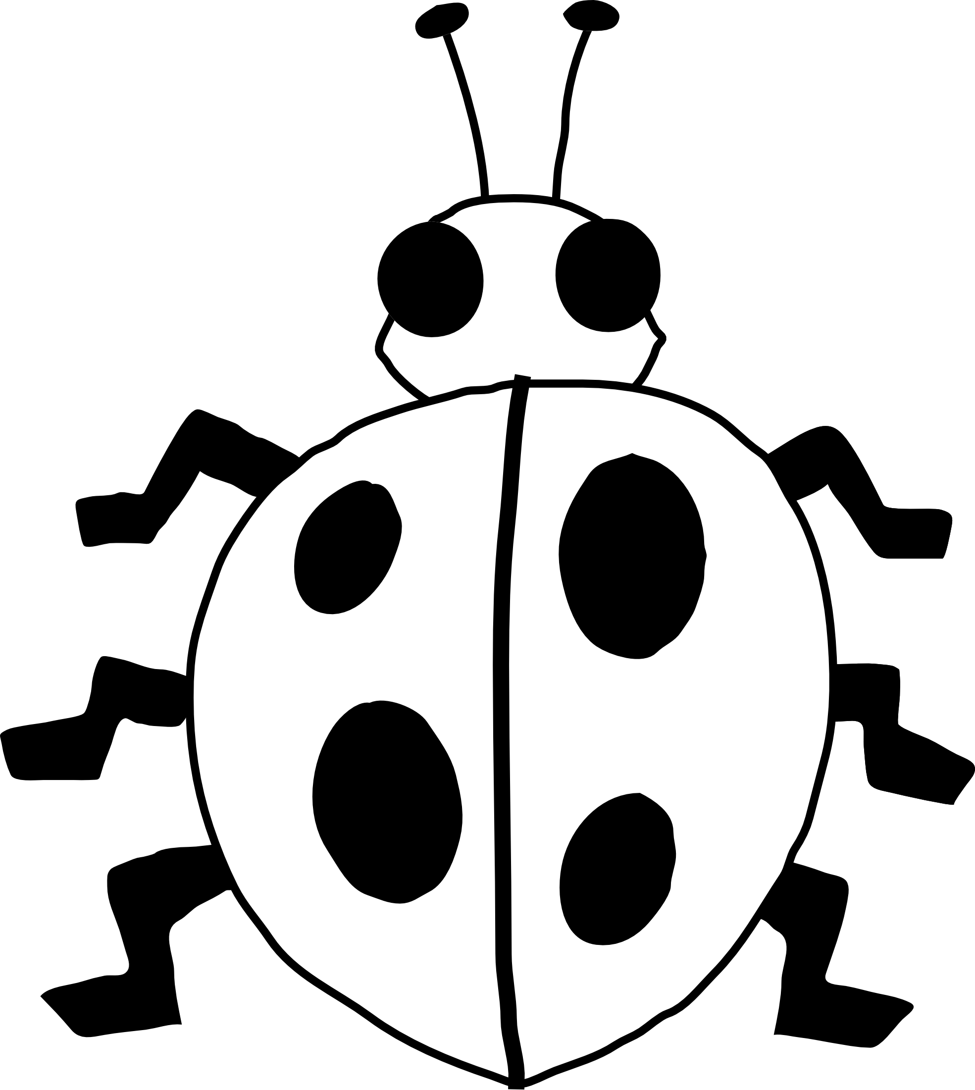 Bugs PNG Black And White Transparent Bugs Black And White ...
