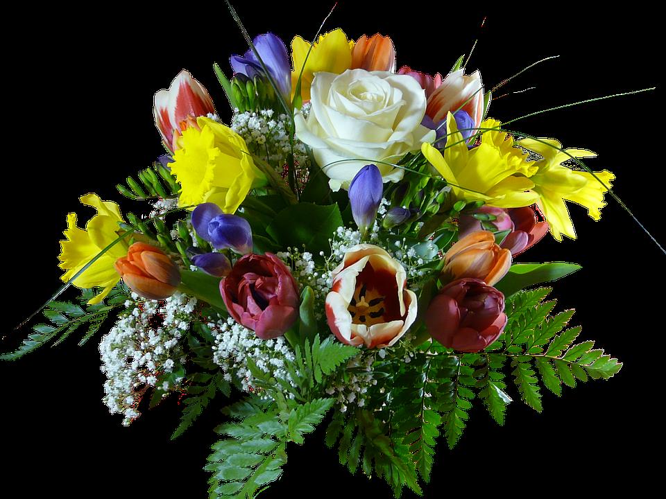 Bukiet Kwiatów, Odosobniony, Kwiaty - Bukiet Kwiatow PNG
