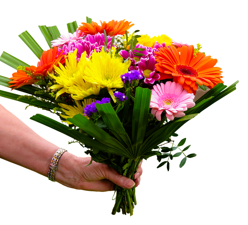 Kwiaty, Bukiet, Przełęcz, Odosobniony, Powitanie - Bukiet Kwiatow PNG