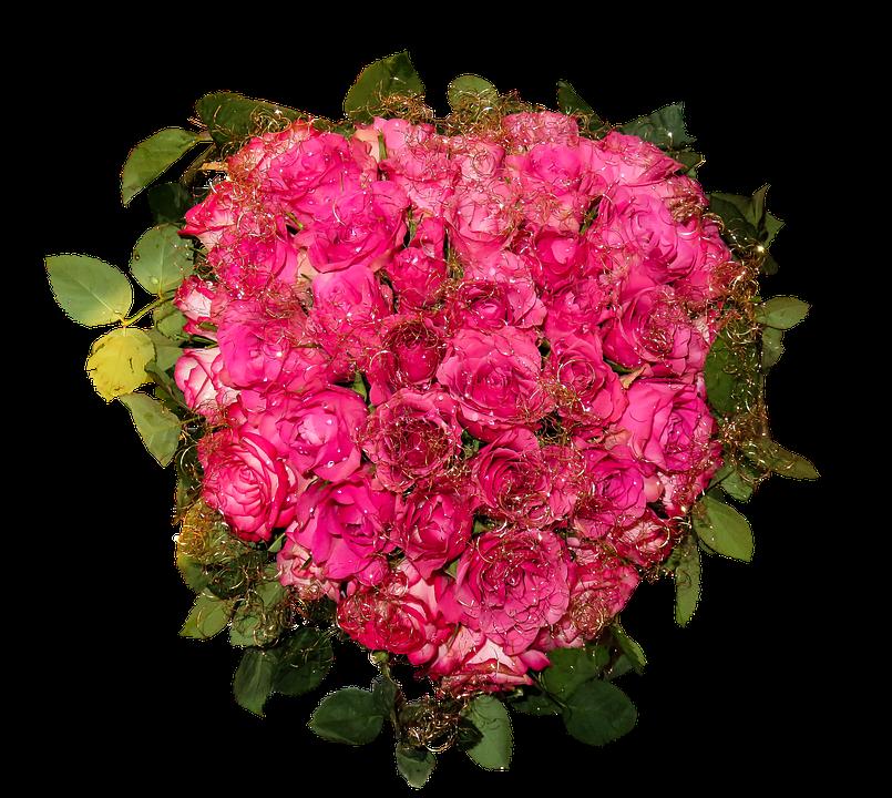 Kwiaty, Bukiet, Róż, Odosobniony, Kwiatów Układ - Bukiet Kwiatow PNG