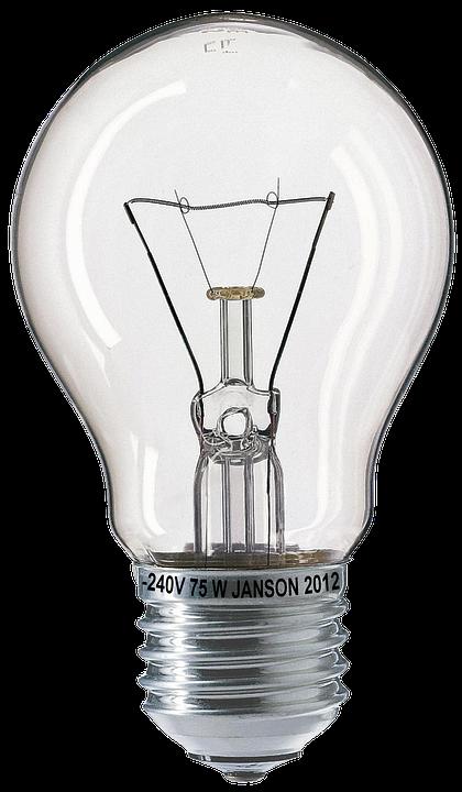 Light Bulb, Bulbs, Fragile, 75W, Glow Wire, Glass - Bulb HD PNG