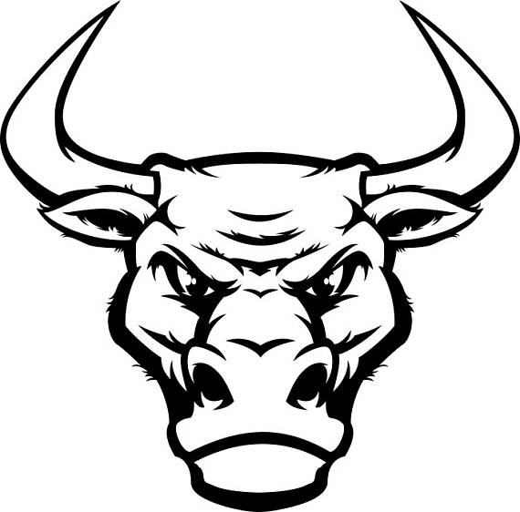 Bull #4 Head Mascot Steer Horns Bull Riding Western Logo .SVG .EPS .PNG  Digital Clipart Vector Cricut Cut Cutting Download Printable File - Bull By The Horns PNG