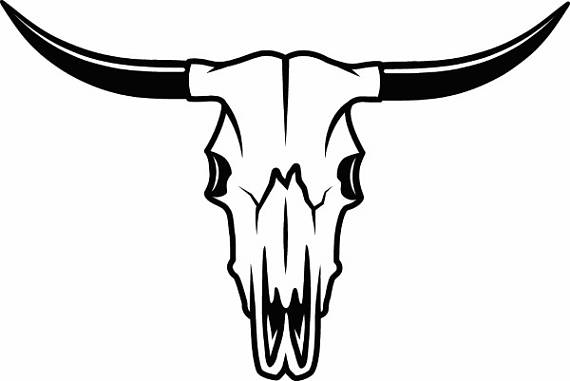 Bull Skull #1 Skeleton Bones Horns Cowboy Country Western Cow Cattle Steer  Rodeo Ranch Old West.SVG .EPS .PNG Vector Cricut Cut Cutting File from PlusPng.com  - Bull By The Horns PNG