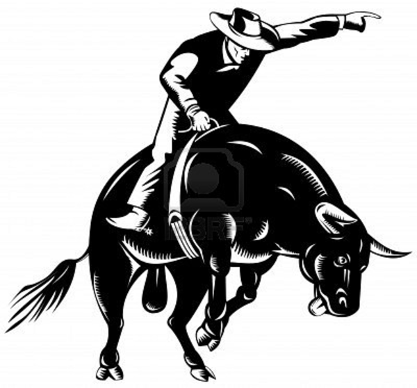 600x558 Bull Riding Free Images - Bull Riding PNG HD