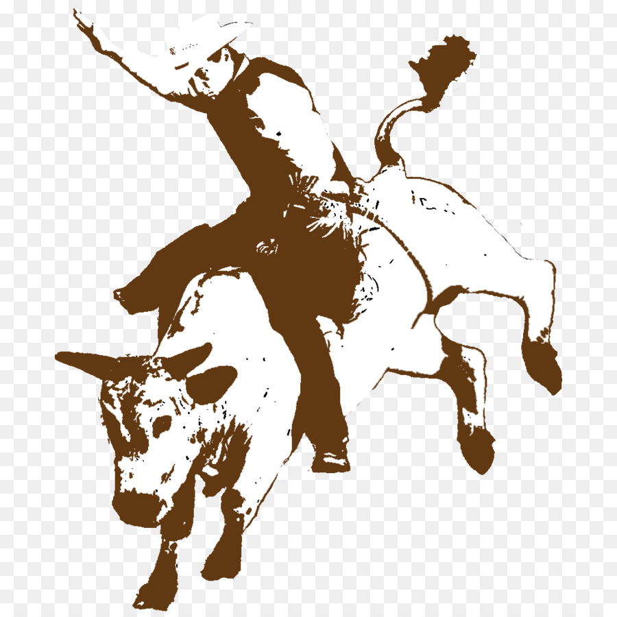 Rodeo Cowboy Bucking bull Bull riding - RODEO - Bull Riding PNG HD