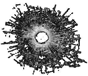 bullet shot hole PNG image - Bullet Hole PNG