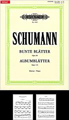 R. Schumann: Bunte Blätter op. 99, Albumblätter op. 124 - Bunte Blatter PNG