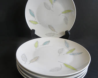 Rosenthal Continental Bunte Blatter Salad Plates Set of 6 - Bunte Blatter PNG