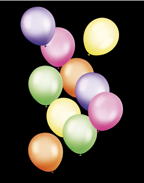 Bunte Luftballons PNG - 44216