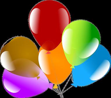 Bunte Luftballons PNG - 44208