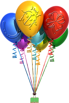 Bunte Luftballons PNG - 44218
