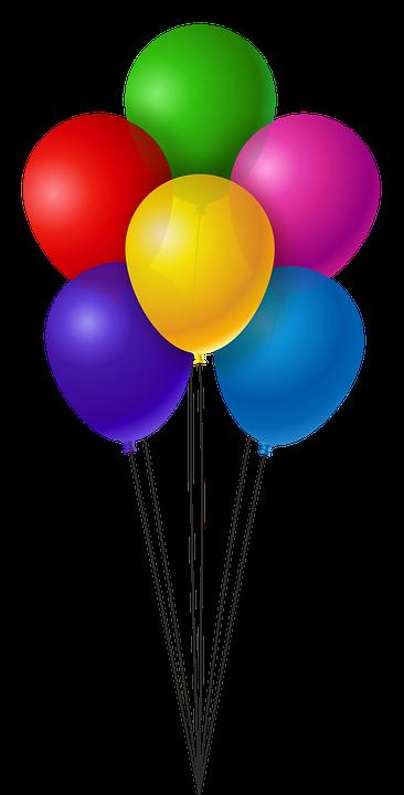 Bunte Luftballons PNG - 44211