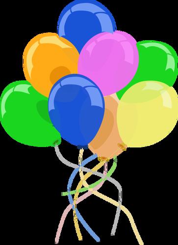Bunte Luftballons PNG - 44210
