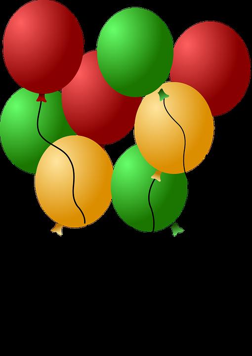 Bunte Luftballons PNG - 44214