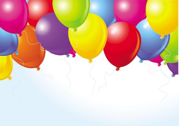 Bunte Luftballons PNG - 44215