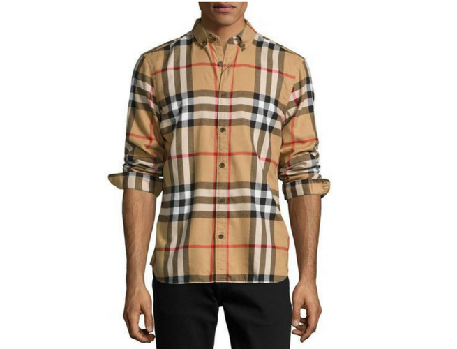 burberry shirt check cotton flannel - Burberry Clothing PNG