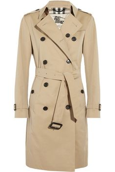 Must-Have: A tan trench coat: Cotton-Twill Trench Coat by Burberry - Burberry Clothing PNG