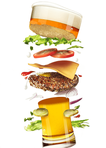 Burger And Beer PNG-PlusPNG.com-360 - Burger And Beer PNG