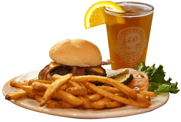 burger_fries_beer - Burger And Beer PNG