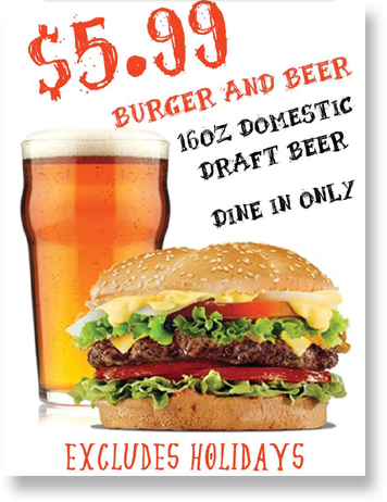 Monday - Burger And Beer PNG