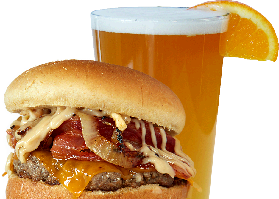 You can also change and customize any burger to fit your taste buds. Keep  an eye open for the Burger Of The Month u2013 theyu0027re different at each  location! - Burger And Beer PNG