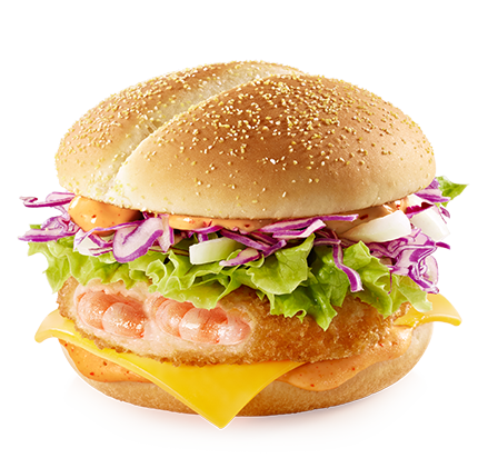 Spicy Shrimp Burger.png - Burger PNG