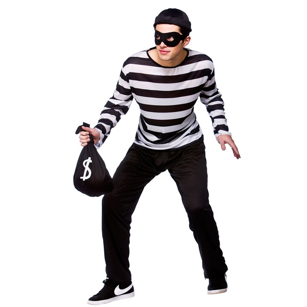 BURGLAR COPS BANK ROBBERS ADULT ROBBER THIEF MENS FANCY DRESS COSTUME SWAG  BAG - Burglar PNG Swag