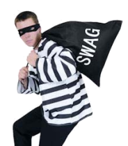 In English swag is well known slang for stolen goods. The stereotypical  image of a - Burglar PNG Swag