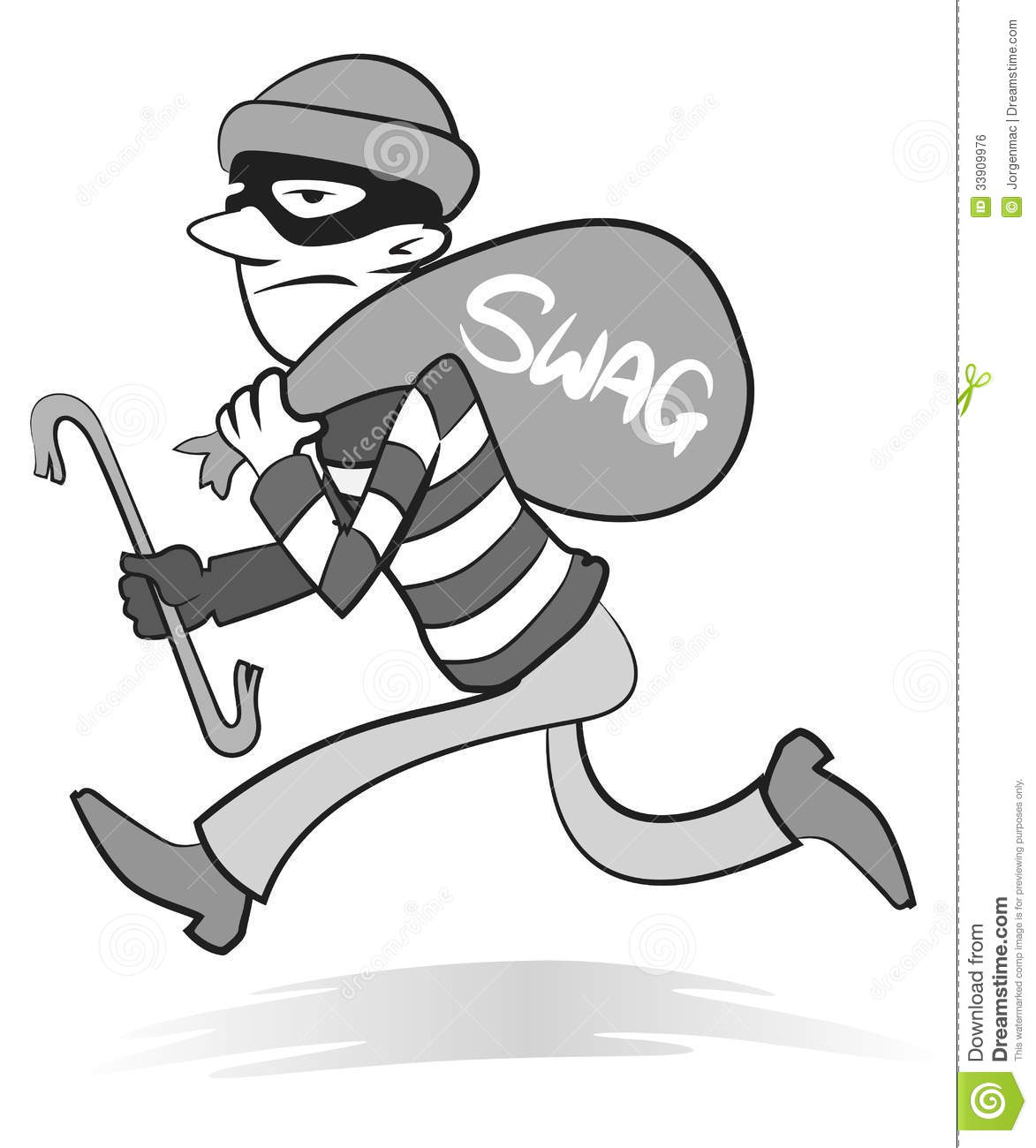 vintage-robber-retro-style-illustration-burglar-running-away- - Burglar PNG Swag