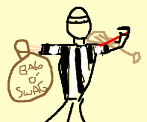 Violinist Robber steals some SWAG - Burglar PNG Swag