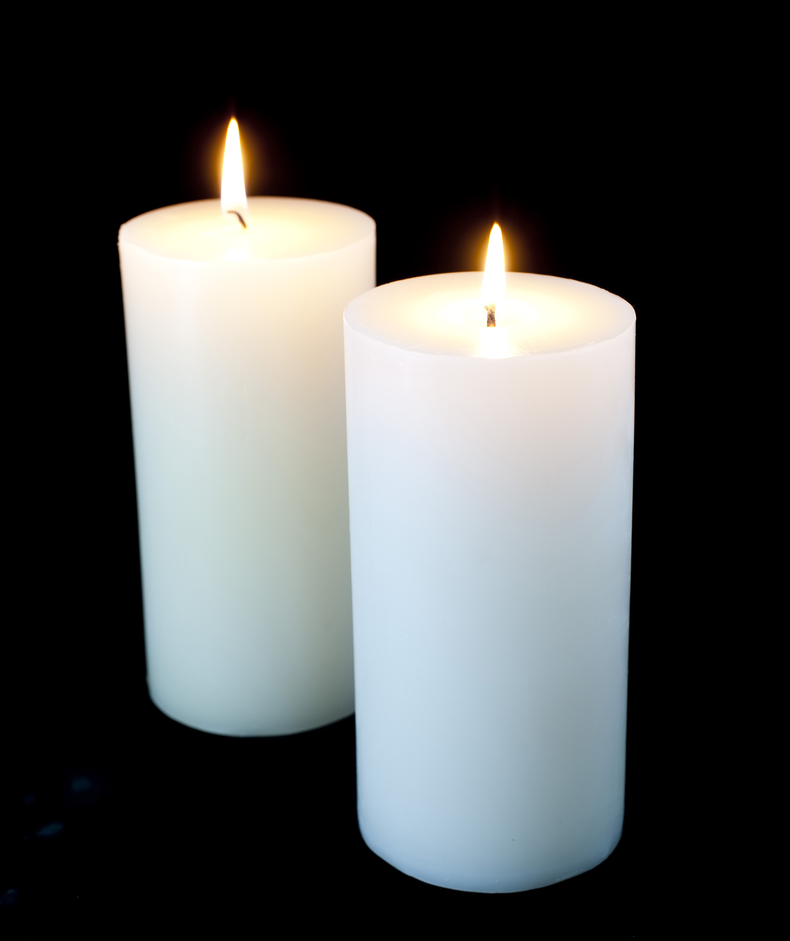 Christmas Candles - Burning Candle PNG HD