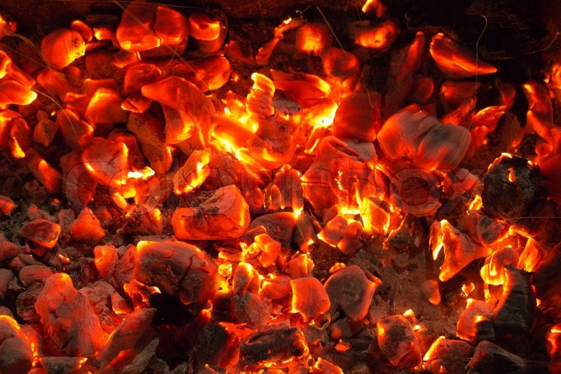 Burning Charcoal In The Background, Stock Photo - Burning Coal PNG